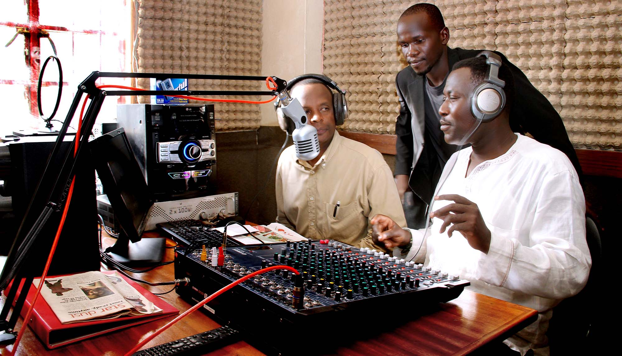 Radio show by journalism and mass communication class