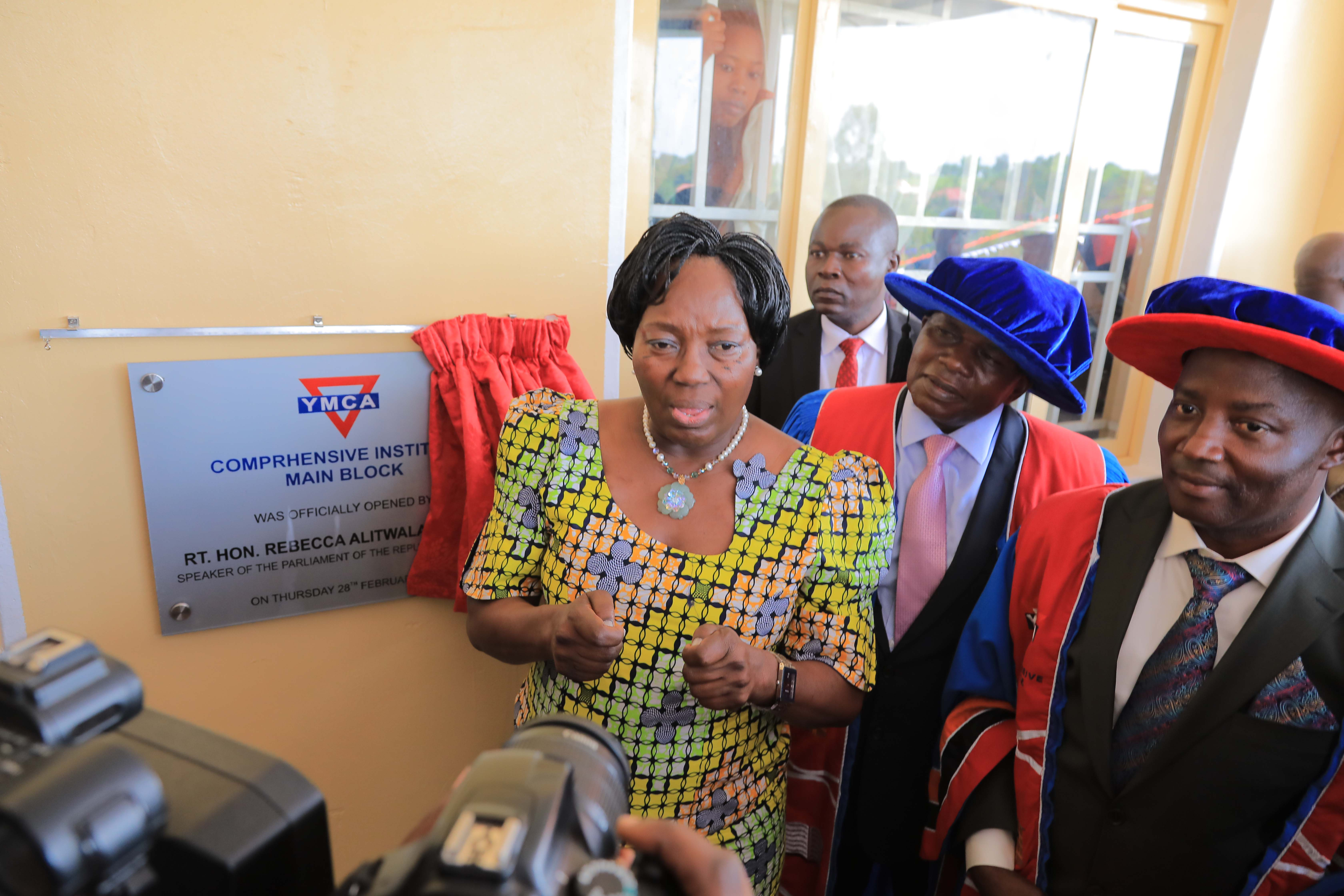 The Rt. Hon. Rebecca Kadaga, officially opened