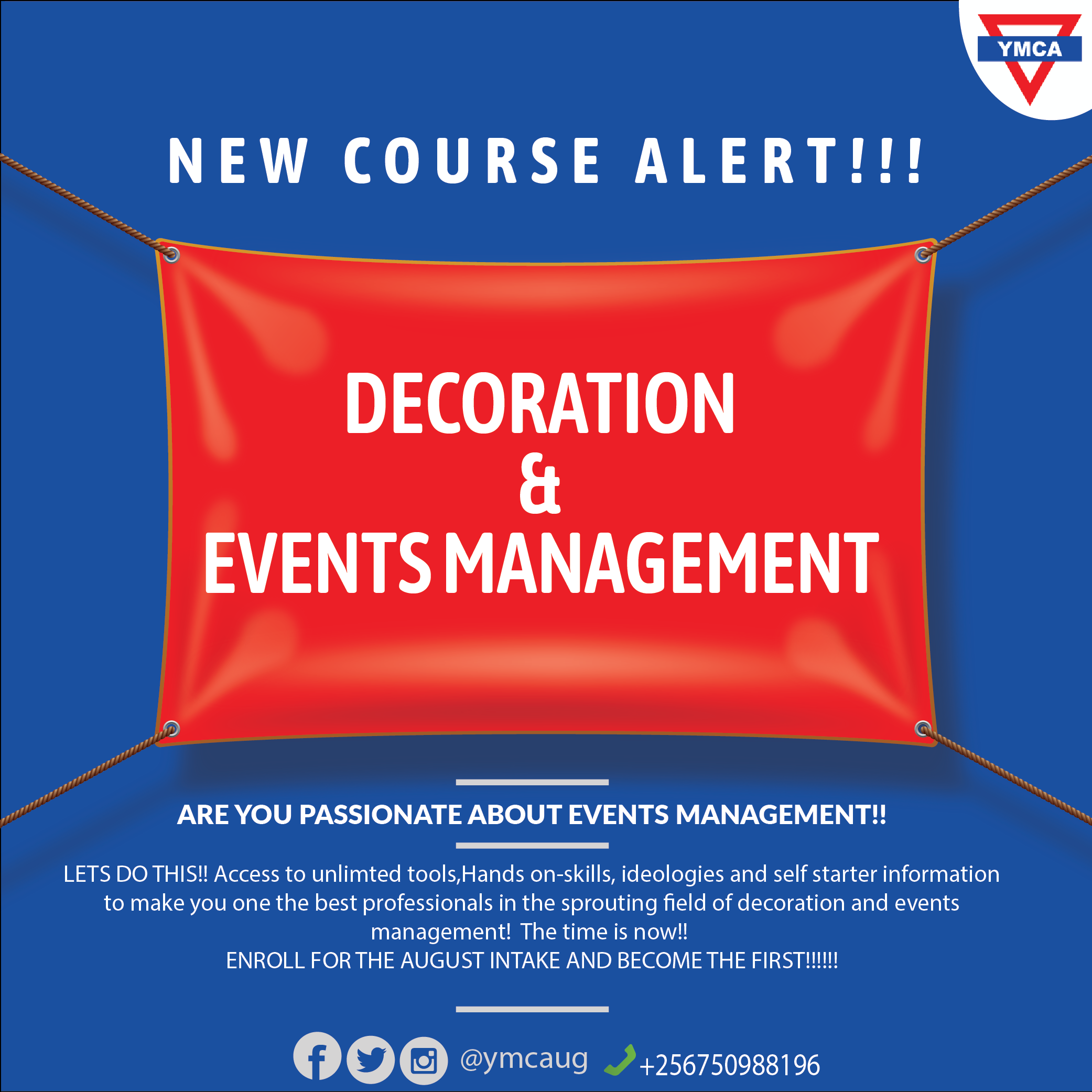NEW COURSE: DECORATION AND EVENTS MANAGEMENT