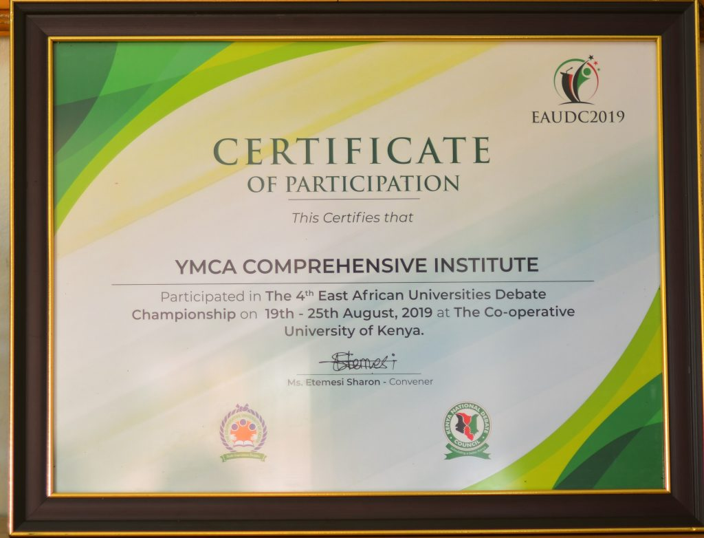 YCI – RUNNERS UP IN EAST AFRICAN DEBATE CHAMPIONSHIPS 2019