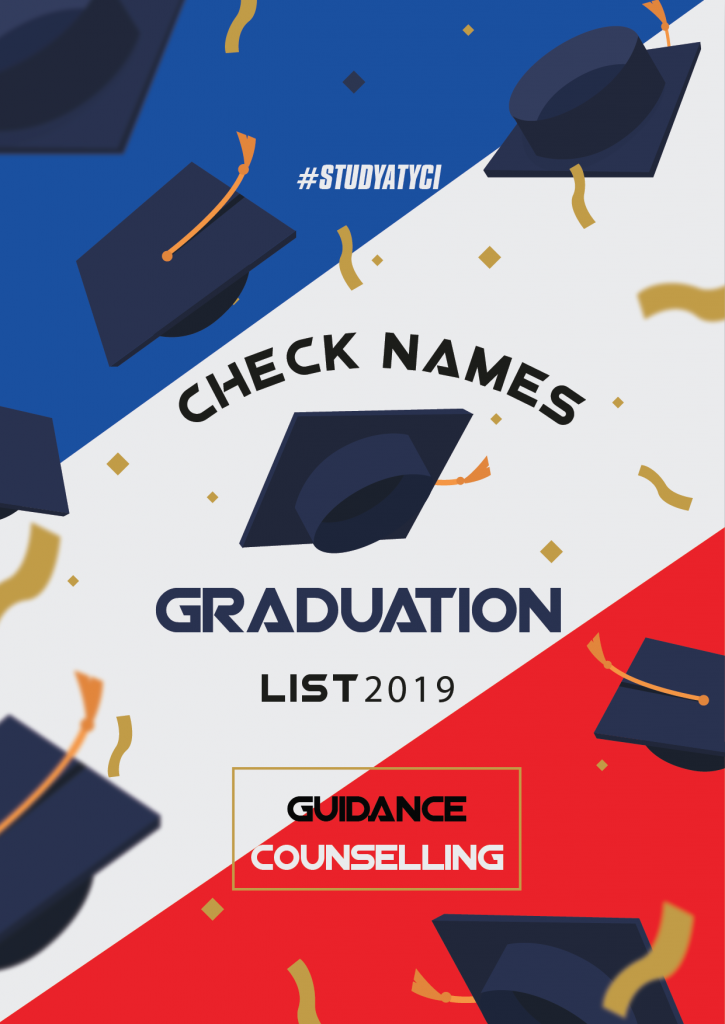 GUIDANCE AND COUNSELLING – GRADUATION LIST